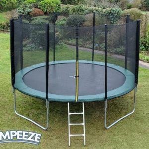 Jumpeeze Green 12ft trampoline package