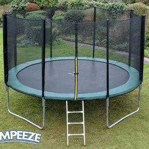 Jumpeeze Green 14ft trampoline package