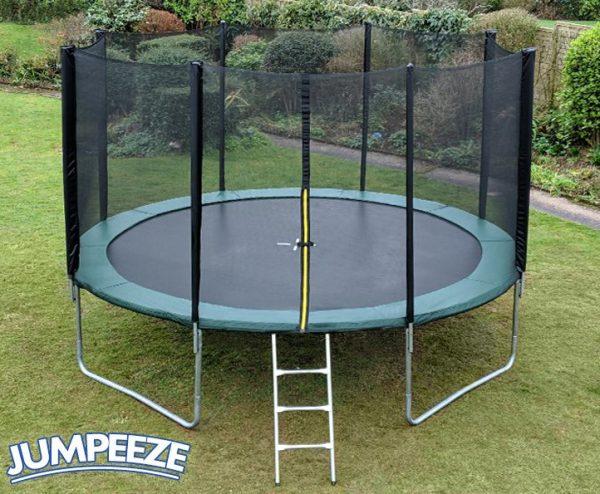Jumpeeze Green 14ft trampoline package